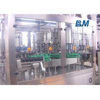 Buy cheap Automatic Glass bottle Rinsing Filling Capping machine for juice with metal cap from wholesalers