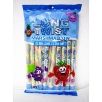 Buy cheap Fruit Flavor Long Twisted Marshmallow Candy Bar Extra Long And Soft product
