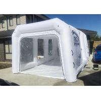Buy cheap White Inflatable Auto Paint Booth / Spray Paint Tent Customized Size product
