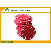 Buy cheap Poker And Clubs Pattern Clay Composite Poker Chips 13.5G PANTONE Colors product