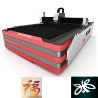 Buy cheap 1000W HE Fiber Laser Cutting Machine , Laser Sheet Metal Cutting Machine product