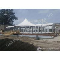Quality Custom Outdoor Tents For Events , Event Canopy Tent A Frame Combined With High Peak Shape for sale