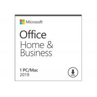 China Microsoft Office Home And Business 2019 Activation Card 1 Person Compatible Apple Mac OS on sale