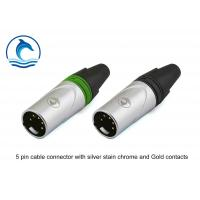 Buy cheap Audio Cable XLR Audio Connector 5 Hole CL-5MX Silver Housing Gold Contacts product