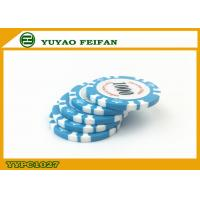 Buy cheap Light Blue Clay Crown Poker Chips Casino Standard Game Poker Chips product