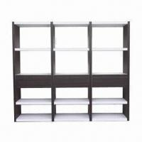 Buy cheap MDF bookcase with high-glossy paint and walnut product