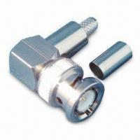 Buy cheap RF Coaxial Connector, BNC Plug R/A Crimp for RG58 product