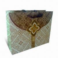 Buy cheap Recycled Paper Shopping Bag with PP Handle, Made of Art and Ivory Board, Eco-friendly product