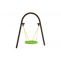 Buy cheap Garden 100cm Kids Play Swing Set With Round Swing Seat product
