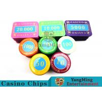 Buy cheap Multi - Color Print Crystal Casino Poker Chip Set Tough And Durable product
