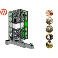 Buy cheap 20TPH Chicken Poultry Animal Feed Pellet Making Machine Pellet Mill Plant from wholesalers