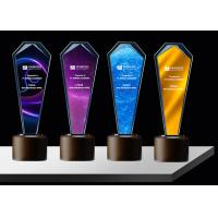 Buy cheap Sandblasting / Lasering Logo Glass And Crystal Trophies , Personalised Glass Awards product