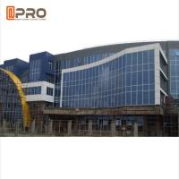 Buy cheap Building Aluminum Profile Double Tempered Glass Exterior Curtain Wall Sound Isolation product