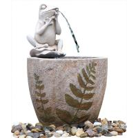 Buy cheap Medium Nude Frog Resin Water Fountain / Resin Garden Water Features mini water fountain decorative water fountain product