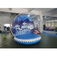 Quality Custom Inflatable Snow Globe Photo Booth / Blow Up Christmas Globe for sale