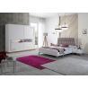 Buy cheap Turkish King Bed Sliding Wardrobe / White Bedroom Set Customized Size product