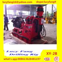 Quality China Deutz Engine High Quality Iran Popular XY-2B Skid Mounted Spindle Type Geotechnical Core Drilling Rig with SPT for sale