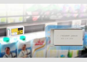 Buy cheap 3.0V 1200mAh Li Mno2 Pouch Cell For Electronic Shelf Label ESL product