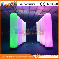 Buy cheap Christmas Party / Wedding Inflatable LED Lighting Pillar 1 Year Warranty product