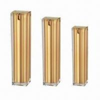 Buy cheap Cosmetic Acrylic Bottle in Dual Tubes for Skin Care Cream, Various Colors are Available product