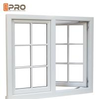 Buy cheap Residential Push Out Casement Windows / Aluminium Pivoting Window With Grid Design product
