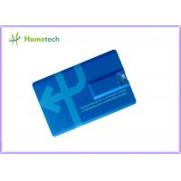 China Blue Bank Credit Card  USB 2.0 Storage Device , Pen Drive Card on sale