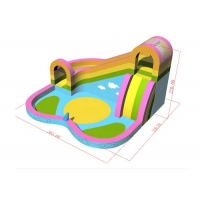 Buy cheap Family Use Inflatable Bouncer With Water Slide And Pool For Sale product