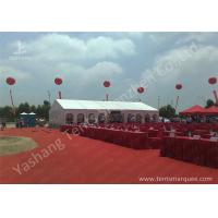 Quality Outdoor Aluminum Alloy Skeleton Event Tent with Flame Retardant PVC Fabric for sale