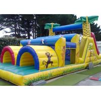 Buy cheap Jungle Theme Inflatable Obstacle Course Plato 0.55 Mm PVC Material product