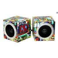 Quality Square Active Battery Powered Portable Speakers Creative With Folding Paper for sale