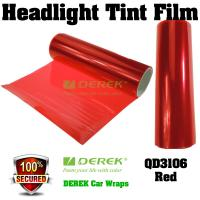 Buy cheap Car Headlight Tint Film 3 layers 0.3*10m/roll - Red product