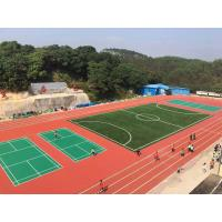 Buy cheap 400 Meters Rubber Athletic Track 13mm Thickness With Spray Coat System product