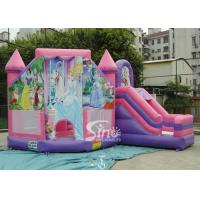Buy cheap 6x5m Commercial Kids Party Inflatable Princess Bouncy Castles With Slide From Sino Inflatables product