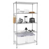 Buy cheap H173 Simple Design Metal Display Shelf Carbon Steel Beautifully Silver - Finished product