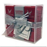Buy cheap Light weight Acrylic Display Case / Gift Case With Lid 10cm X 10cm X 4cm product