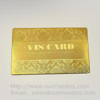 Buy cheap Custom Chemical metal etching VIP business cards supplier in China product