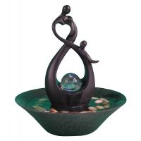Buy cheap 10' Happy Family Table Top Water Fountains Sculpture Water Fountain With Fengshui Ball product