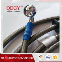 Buy cheap DOT FMVSS106 approved 1/8 SAE J1401 standard colored stainless steel braided brake hose, braided bra product