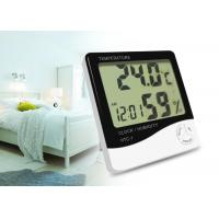 Buy cheap AAA Battery Indoor Digital Thermometer Set Time Measuring Humidity And Temperature product