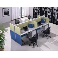 Buy cheap Elegant Wooden Office Partition Walls , 4 - 6 Staff Office Workstation Desk from wholesalers
