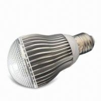 Buy cheap LED Bulb Light with 175 to 240V AC Voltage and E27 Lamp Cap, Measures 60 x 107mm product