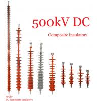Buy cheap Composite Polymeric Silicone Rubber Insulator 500kv Creepage Distance 17600mm product