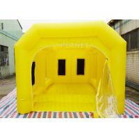 Buy cheap 6 M Yellow Inflatable Spray Booth / Automotive Paint Booths Two Air System product