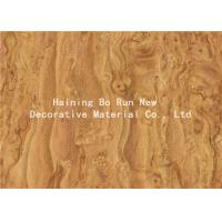 China High Efficiency Wood Grain Film For PVC Furniture Panel Moisture Proof on sale