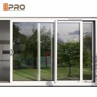 Buy cheap America Style Aluminum Single Tempered Glass Windows And Door Anti - Aging product