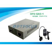 Buy cheap Gigabit SFP Media Converter With 256K External Power One SFP GE Slot product