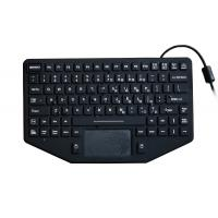 Buy cheap 89 keys rugged black silicone military keyboard with EMC 1.8m coiled USB cable product