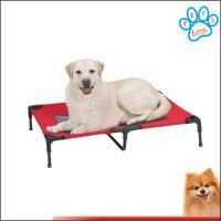 Buy cheap dog bed elevated Travel best elevated dog bed Steel-Framed Bed Cot with Knitted Fabric product
