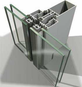 Buy cheap Glass Aluminium Curtain Wall Extrusions product