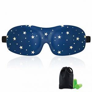 Buy cheap Woman & Man 3d Sleeping Eye Mask , Total Darkness Travel Eye Mask Free Earplugs product